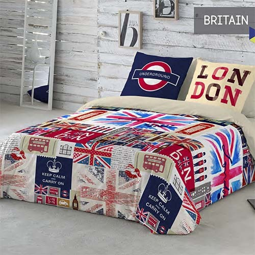 Cortinas De Baño Keep Calm:Fundas Nórdicas Britain de Naturals