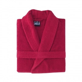 Albornoz algodón liso rojo