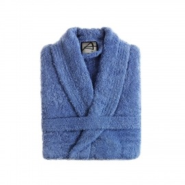 Albornoz algodón liso lavanda