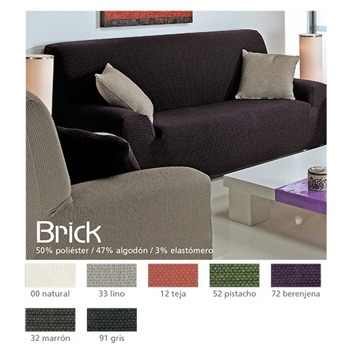 Fundas de sofá elásticas Brick de Cañete