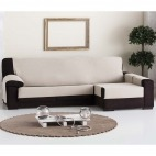 Funda de sofá práctica Chaise longue Lona liso