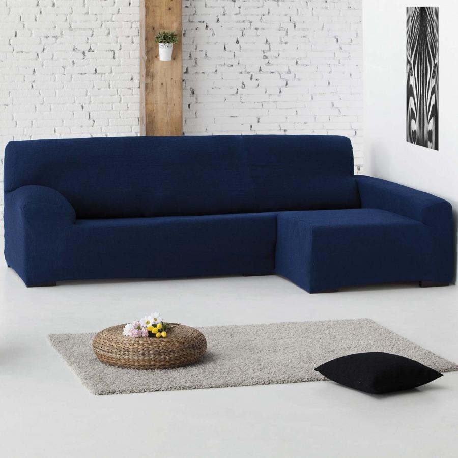 Funda de sofá bielástica Chaise longue Teide de Eysa