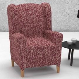 Funda de sillón orejero elástica Grecia de Belmartí